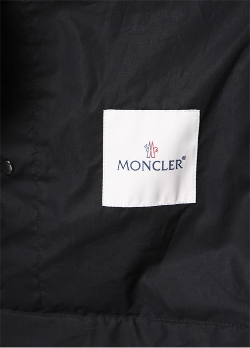 Genius 5 Siyah İngiliz Yaka Logolu Mont