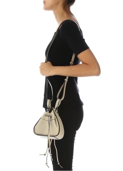 Hammock Mini Bej Kadın Deri Büzgülü Çanta