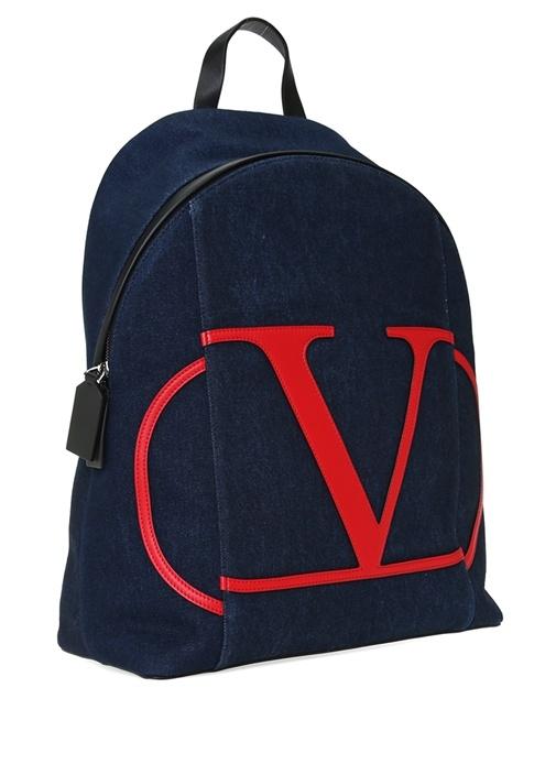 Vring Logo Patchli Erkek Denim Sırt Çantası