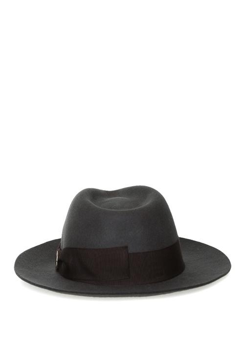 Antrasit Erkek Yün Fötr Şapka