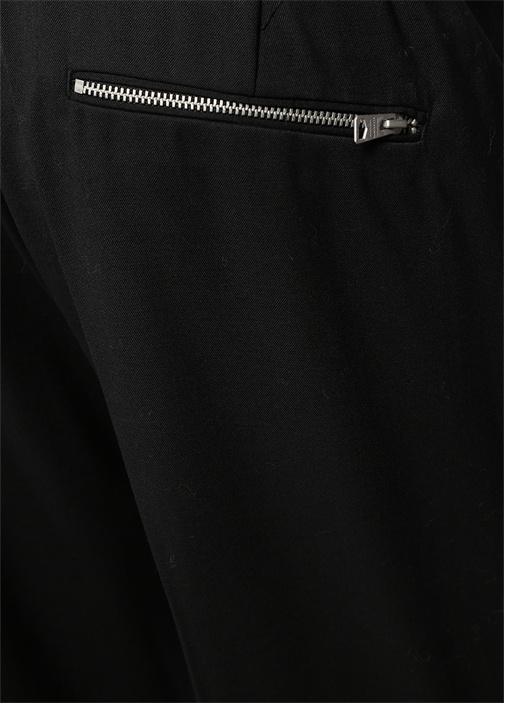 Buxton Siyah Boru Paça Pantolon