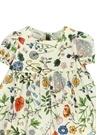 Krem Karışık Çiçek Desenli Kız Bebek Elbise