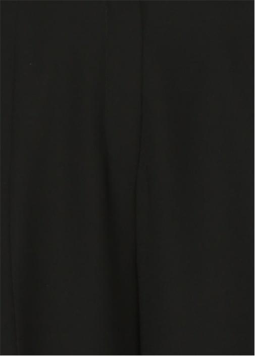 Siyah Kısa Paça Krep Pantolon