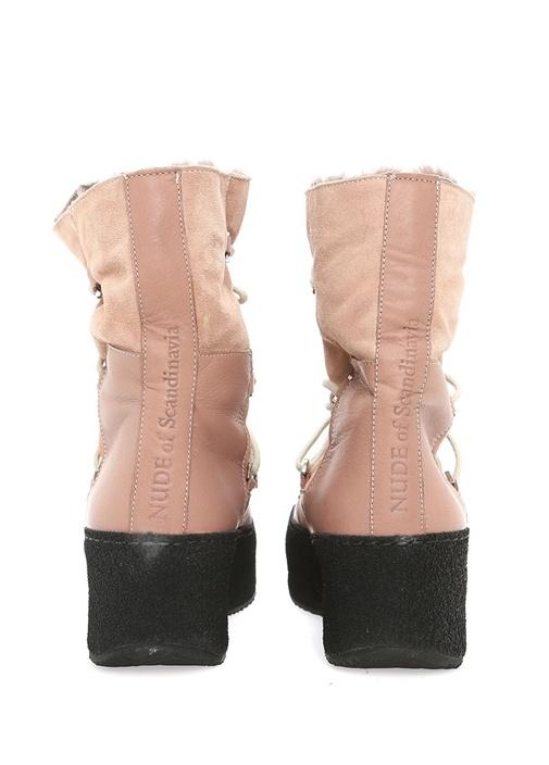 Pudra Deri Kadın Sneaker