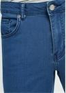Slim Fit Mavi Normal Bel Dar Paça Jean Pantolon