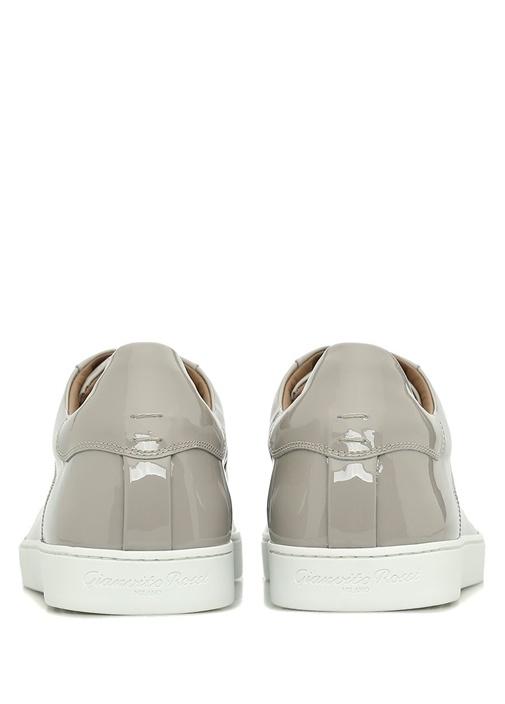 Low Top Deri Gri Erkek Sneaker