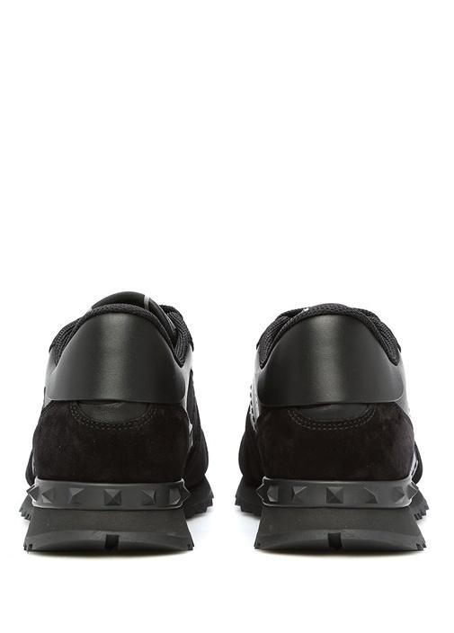 Valentino Garavani Siyah Rockrunner Erkek Sneaker