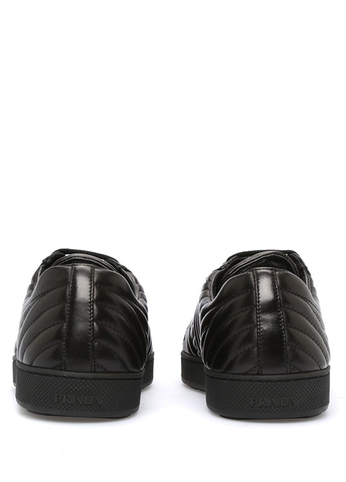 Nappa Siyah Deri Kadın Sneaker