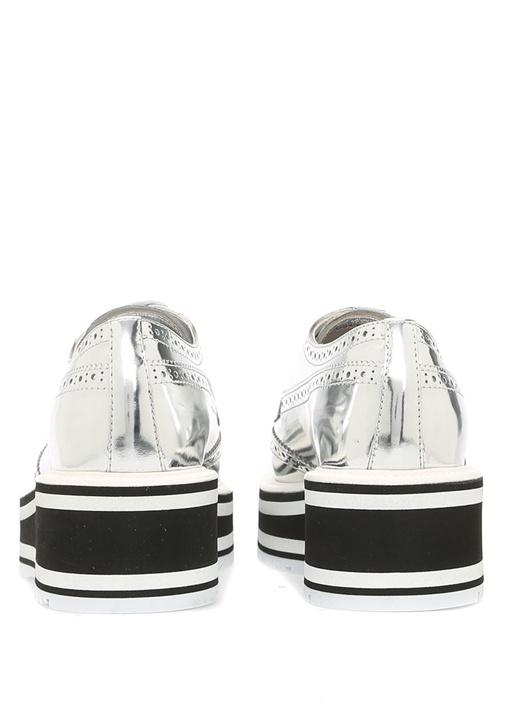 Silver Siyah Şerit Detaylı Kadın Deri Loafer
