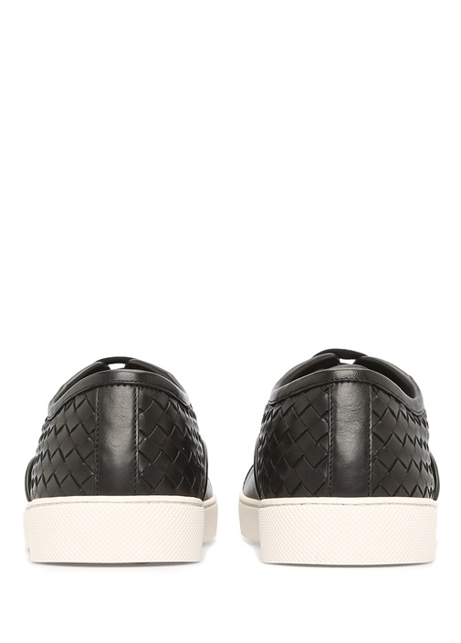 Intrecciato Nappa Dodger Deri Siyah Erkek Sneaker