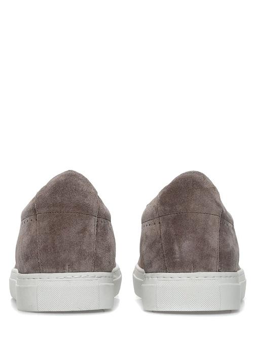 Vizon Bağcıklı Süet Erkek Sneaker