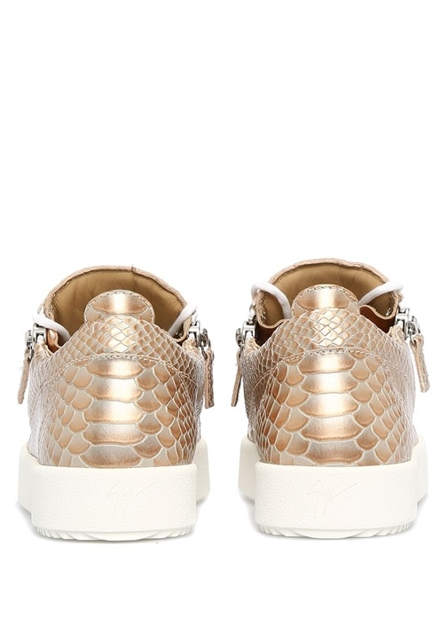 Nicki Gold Deri Kadın Sneaker