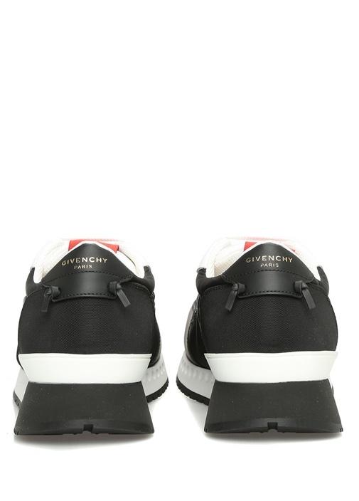 Siyah Beyaz Deri Erkek Sneaker