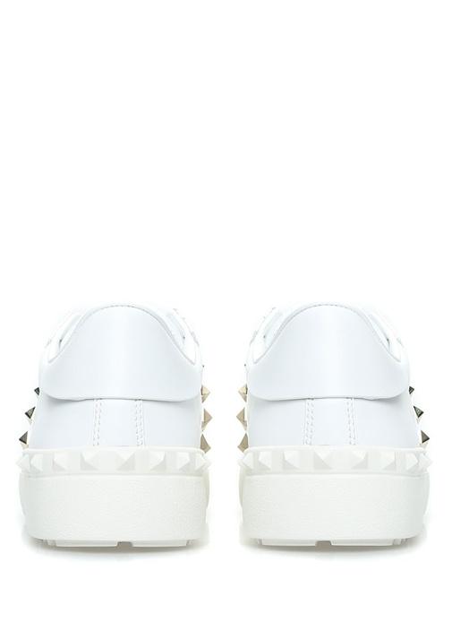Rockstud Open Beyaz Kadın Deri Sneaker