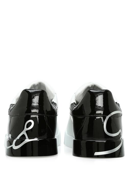 Portofino Siyah Beyaz Erkek Deri Sneaker