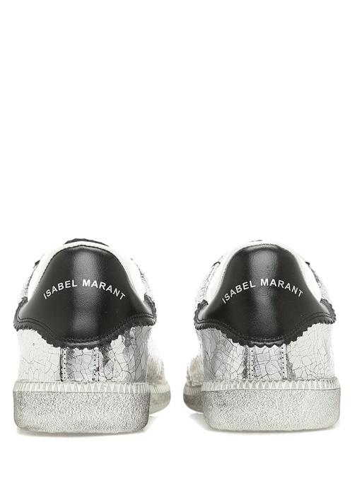 Bryce Gümüş Deri Kadın Sneaker