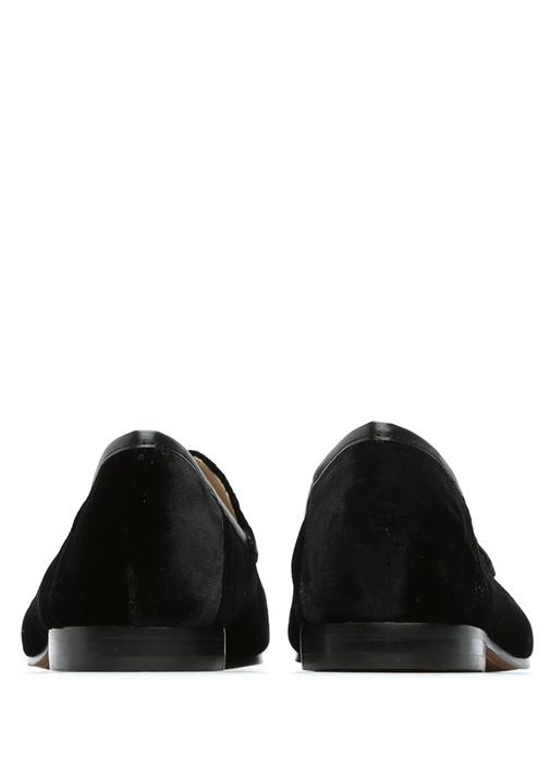 Loraine Siyah Tokalı Kadın Kadife Loafer
