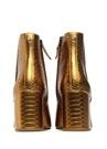 Taye Gold Krokodil Desenli Kadın Deri Bot