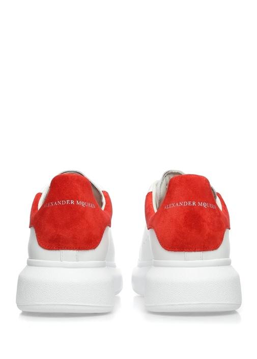 Oversized Deri Beyaz Erkek Sneaker