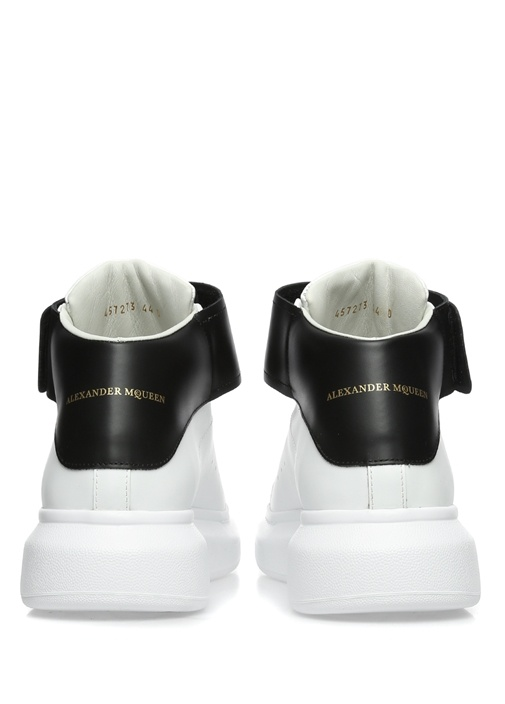 Oversize Beyaz Siyah Erkek Deri Sneaker