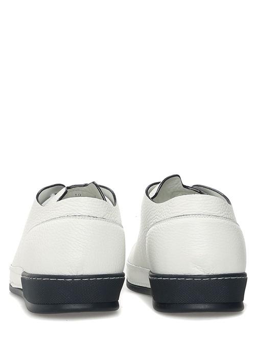 Lacivert Beyaz Deri Erkek Sneaker