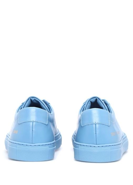 Mavi Deri Kadın Sneaker