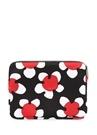 Siyah Kırmızı Çiçekli 13 inc Laptop Kılıfı