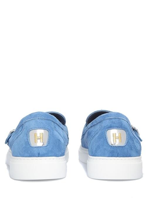 Cliff Mavi Deri Erkek Sneaker