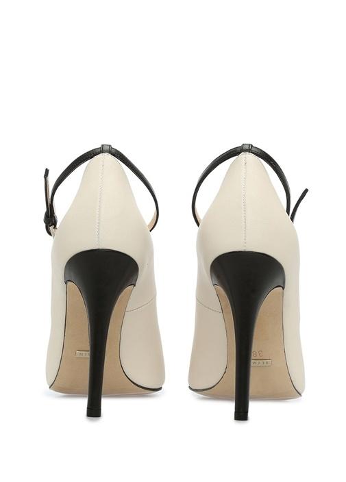 Siyah Deri Topuklu Ayakkabı