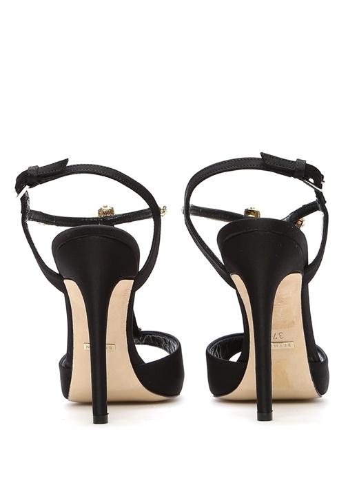 Siyah Saten Gece Ayakkabısı