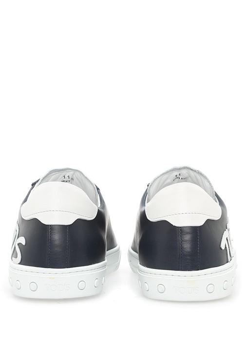 Logo Baskılı Siyah Erkek Sneaker