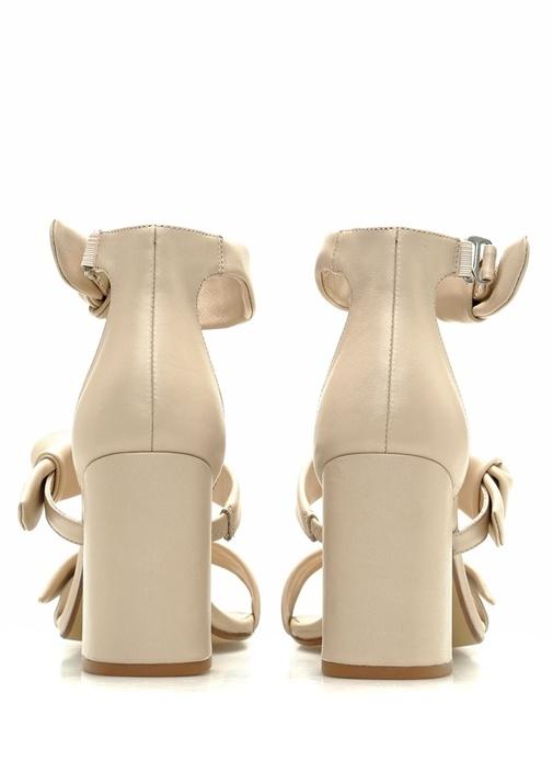 Melvy Pudra Kadın Deri Sandalet