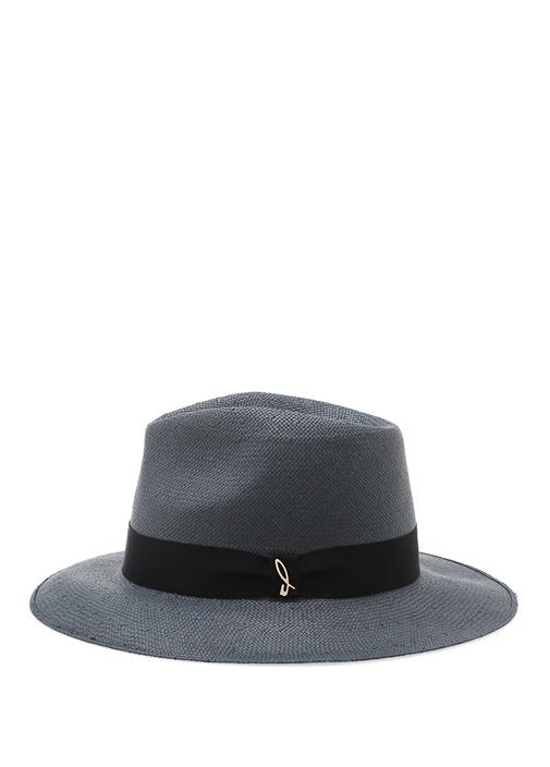 Mavi Şeritli Erkek Hasır Şapka