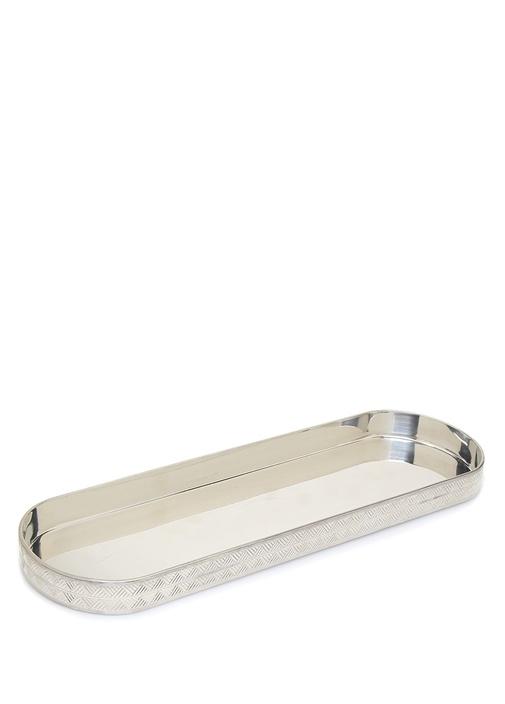 Cairo Silver İşlemeli Metal Servis Tabağı