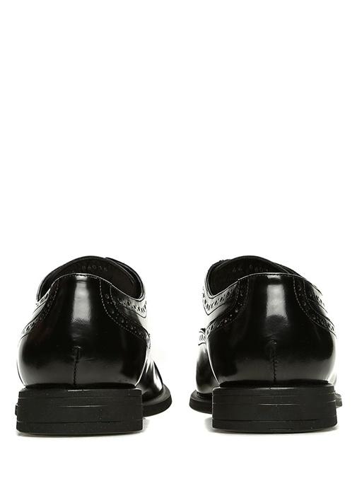 Siyah Delik Desenli Erkek Deri Oxford Ayakkabı