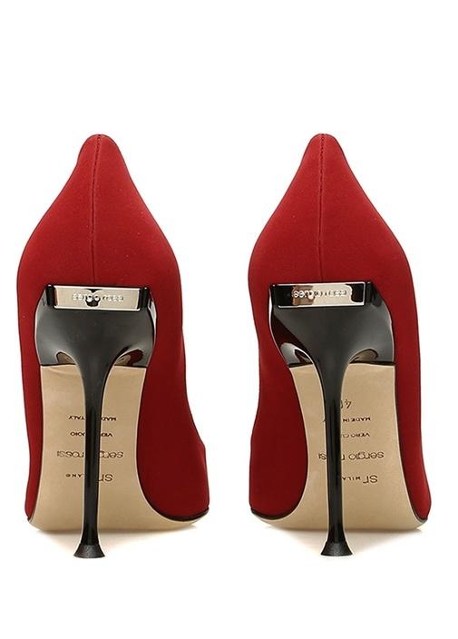 Kırmızı Topuk Detaylı Deri Stiletto
