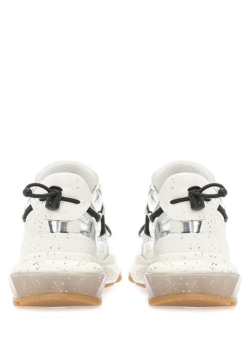 Bounce Silver Fırça Darbeli Erkek Deri Sneaker