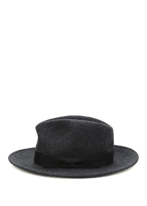 Lacivert Bantlı Dokulu Erkek Yün Şapka