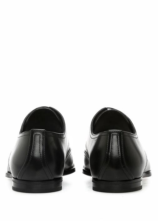 Siyah Örgü Dokulu Erkek Deri Ayakkabı