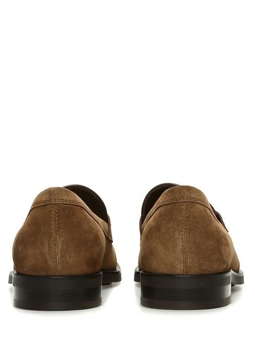 Kahverengi Püsküllü Erkek Süet Loafer