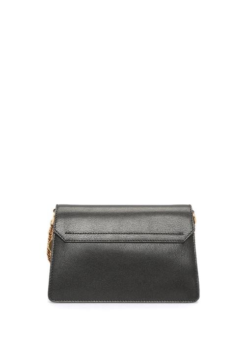 Gv3 Small Siyah Gri Kadın Deri Çanta