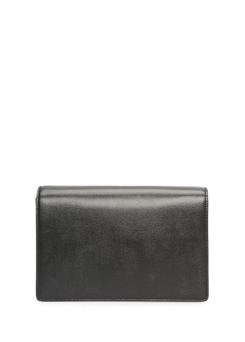 Medium Bellechasse Siyah Logolu Kadın Deri Çanta