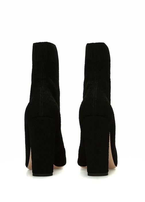 Isa Siyah Dokulu Kadın Çorap Formlu Bot