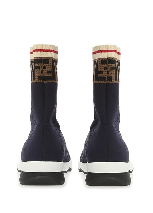 Lacivert Logo Jakarlı Çorap Formlu Kadın Sneaker