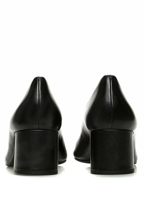 Chelsea Siyah Logolu Kadın Deri TopukluAyakkabı