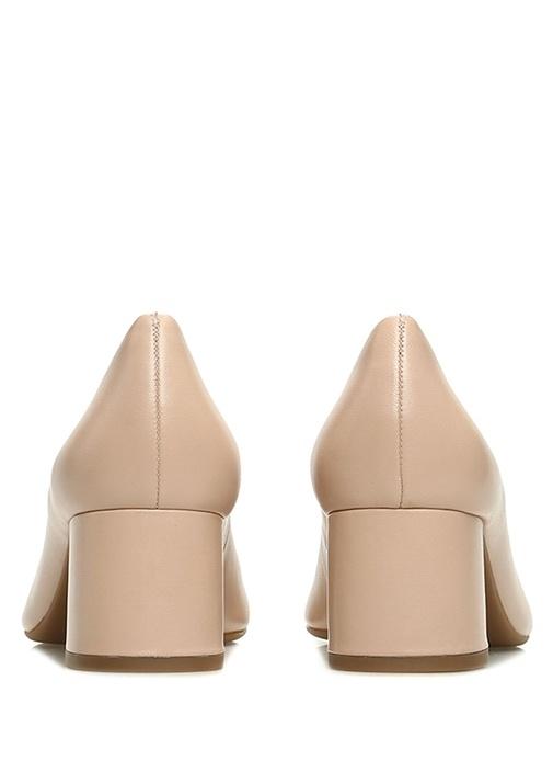 Chelsea Pudra Deri Topuklu Ayakkabı