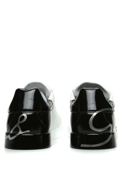 Portofino Beyaz Logo Baskılı Erkek DeriSneaker