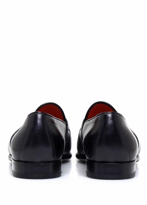 Lacivert Bant Detaylı Erkek Deri Loafer