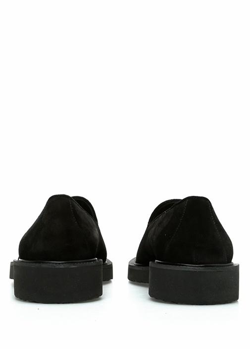 Siyah Püskül Detaylı Erkek Süet Loafer