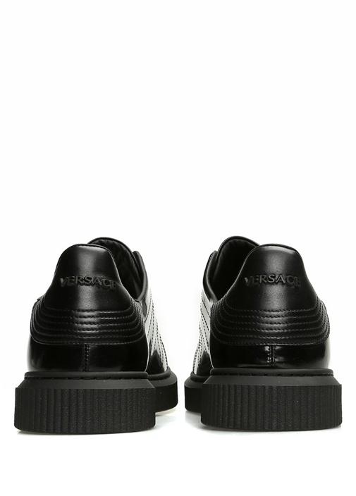 Medusa Nyx Siyah Logolu Erkek Deri Sneaker